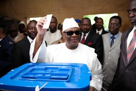 Ibrahim Boubacar Keita, le 11 août, à Bamako. REUTERS/Joe Penney