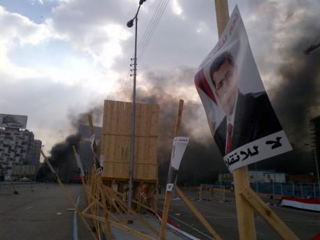Dispersion de force des deux places occupés par les pro-Morsi, le 14 août, au Caire. REUTERS/Amr Abdallah Dalsh