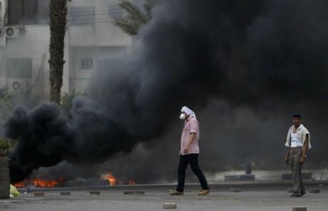 Partisans des Frères musulmans, sur la place Rabaa al Adawiya, au Caire. REUTERS/Amr Abdallah Dalsh