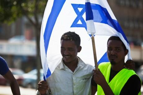 Migrants ethiopiens juifs, octobre 2012, Tel Aviv. REUTERS/Nir Elias