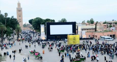 Un écran de cinéma en plein air, Marrakech 2012 / Reuters