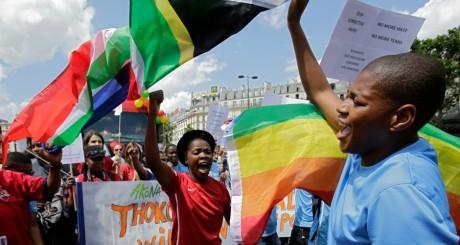 Manifestations en faveur des LGBT en Afrique Sud / Reuters