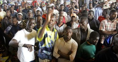 Migrants subsahariens à Oujda, 2005 / REUTERS