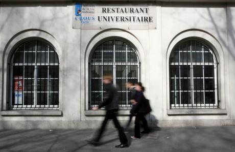 Restaurant universitaire, Paris. LOIC VENANCE / AFP