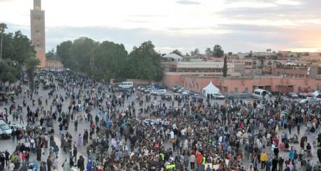 Place Djema el-Fna, Marrakech, MAroc / AFP