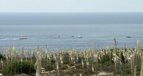 Patrouille de garde-côtes  au large de Lampedusa / Reuters