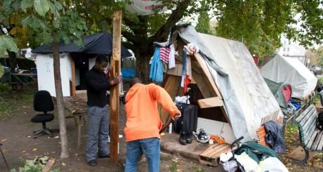 Camp improvisé de réfugiés, Berlin / AFP
