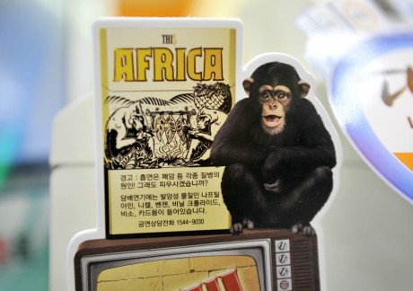Paquet de cigarettes ''this Africa'', Corée du sud. JUNG YEON-JE / AFP