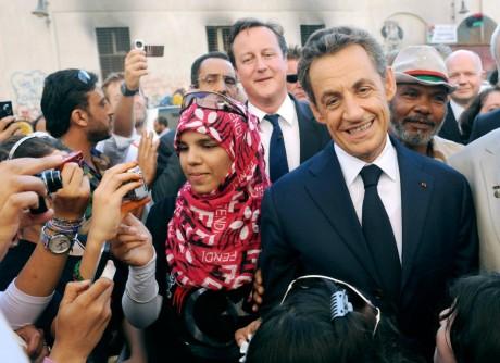 Nicolas Sarkozy, Benghazi, 15 septembre 2011. REUTERS/Stefan Rousseau/Pool