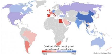 Les pays les plus prometteurs pour les expatriés, Washingtonpost