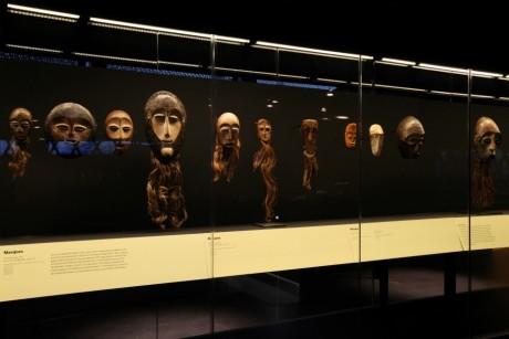 Masques de l'exposition Secrets D'Ivoire au Musée Quai Branly, Gautier Deblonde