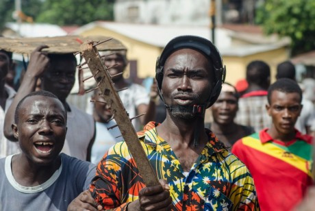 Manifestation pro-gouvernement à Conakry, REUTERS/Tommy Trenchard