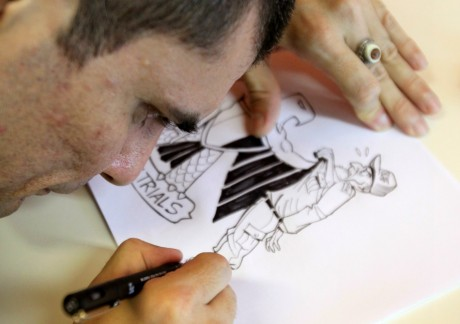 Caricaturiste Brésilien Carlos Latuff à Rio, REUTERS/Sergio Moraes