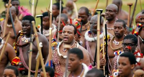 Le roi Mswati III lors d'une cérémonie traditionnelle, Swaziland / Reuters