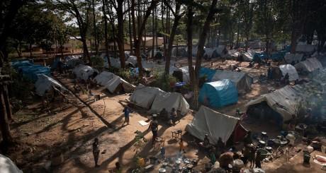 Camp de déplacés, Bossangoa, nord de la RCA, novembre 2013 / AFP