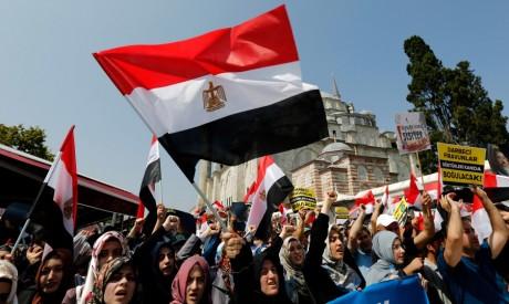Manifestants pro-Morsi à Istanbul, en Turquie. REUTERS/Murad Sezer