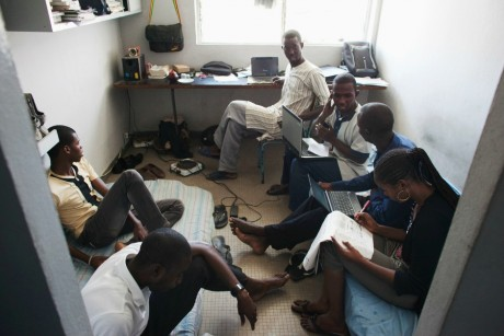 Étudiants de l'université Cheikh Anta Diop, Dakar, Sénégal, REUTERS/Joe Penney