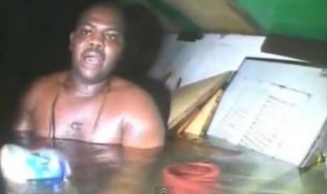 Capture d'écran du sauvetage de Harrison Odjegba Okene.