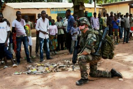 Soldat français, à Bangui, le 8 décembre 2013. REUTERS/Herve Serefio
