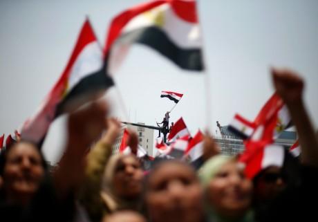 Manifestation contre le président islamiste Mohamed Morsi, le 3 juillet, au Caire. REUTERS/Suhaib Salem