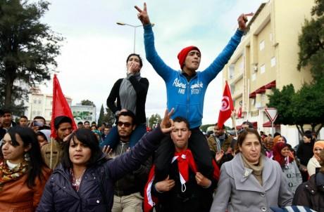 Manifestation à Siliana, 27 novembre 2013. REUTERS/Anis Mili