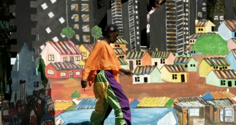 Artiste lors du carnaval du nouvel An, Johannesburg, décembre 2007 / Reuters