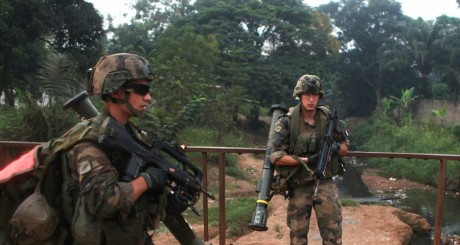 Des soldats français en Centrafrique. REUTERS/Andreea Campeanu
