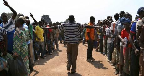 Un camp de déplacés à Bangui, 8 janvier 2014. REUTERS/Emmanuel Braun