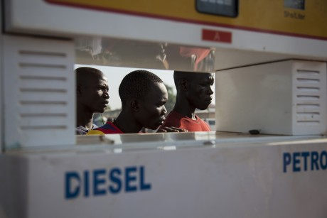 Une station essence à Juba. REUTERS/Adriane Ohanesian