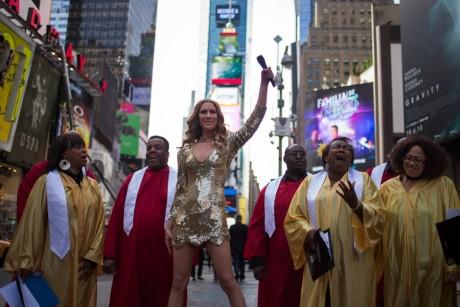 Céline Dion lors d'une représentation au Late Show à New york, REUTERS/Adrees Latif