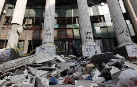 Le tribunal d'Imbaba après l'explosion. REUTERS/Mohamed Abd El Ghany