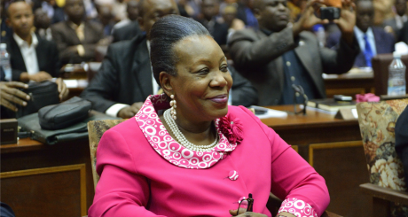 Catherine Samba-Panza, Bangui, 20 janvier 2013 / AFP