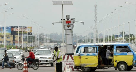 Un robot installé sur l'avenue Lumumba, à Kinshasa / AFP