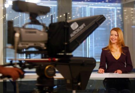 Présentation d'un journal télévisé en Irak. REUTERS/Chris Helgren CLH/AA