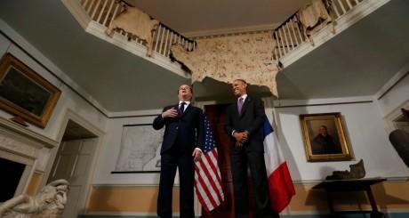 François Hollande et Barack Obama, à Charlottesville, 10 février 2014. REUTERS/Larry Downing