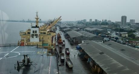 Une vue du port de Douala, Cameroun. / AFP
