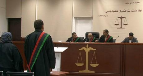 Une audience du procès de Seif al-Islam Kadahfi, Tripoli, mai 2013 / AFP