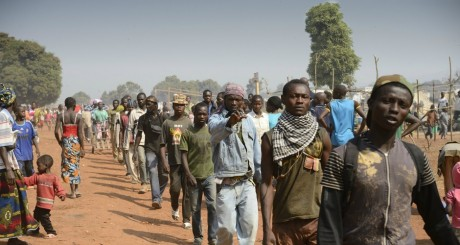 Une patrouille des anti-balaka, Bangui / AFP