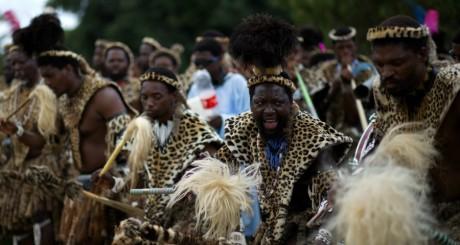 Un groupe de danseurs zoulous / AFP