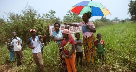 Des habitants de Berbérati, Centrafrique / AFP