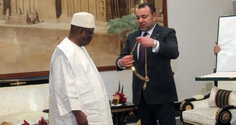 Le roi du Maroc, Mohammed VI, et le président du Mali, IBK, Bamako, 20 février 2014. AFP
