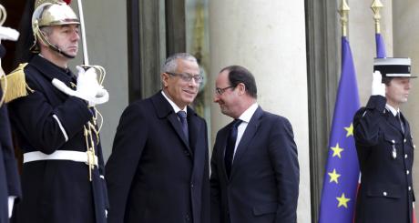 François Hollande et le Premier ministre libyen, Ali Zeidan, en février 2013 / REUTERS