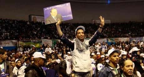 Des soutiens de Bouteflika lors dun meeting du FLN (au pouvoir), février 2014, Alger / REUTERS