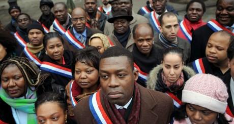 Manifestation pour plus de diversité dans les listes aux municipales, 2008 / AFP