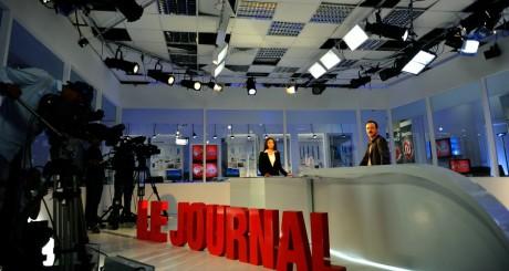 Plateau du journal d'une chaîne de télé tunisienne / AFP