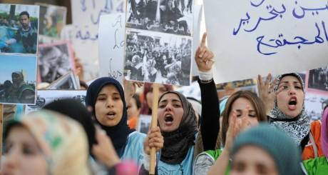Une manifestation lors de la Journée de la femme, Rabat, 8 mars 2014 / AFP