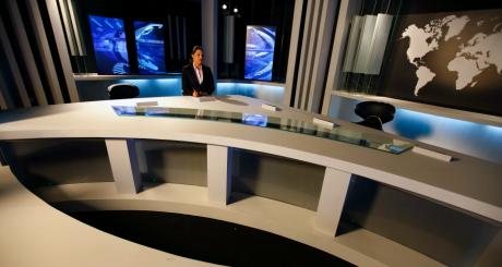 Le plateau du JT de la chaîne Ennahar TV / REUTERS