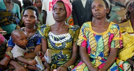 Des Congolaises dans un camp de déplacés à Kichanga, RDC / REUTERS