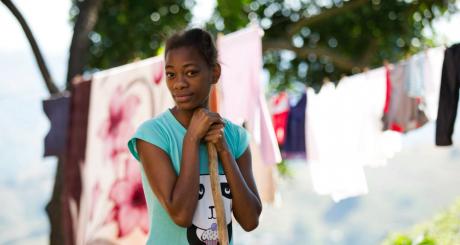 Une jeune Sud-Africaine de 20 ans, près de Durban / REUTERS