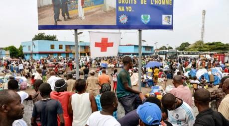 Ressortissants de la RDC à Brazzaville en attente de retour à Kinshasa, 29 avril 2014 / AFP